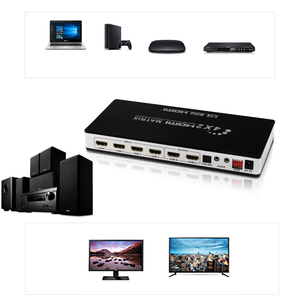 Image 5 - HDMI 2.0 Matrix 4X2 4K 60Hz HDCP 2.2 sterowanie EDID przełącznik HDMI 2.0 rozdzielacz matrycowy 4 na 2 wyjścia 4K HDMI 1.4V