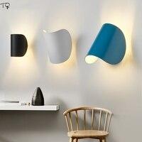 Nordic design italiano arte criativa decoração rotatable lâmpada de parede moderna simples arandelas parede sala estar quarto estudo cabeceira corredor