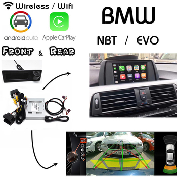 wireless Carplay For BMW X5 E53 E70 2009~2019 CIC NBT EVO Rear Front camera decoder Android Auto carlif Interface Display image