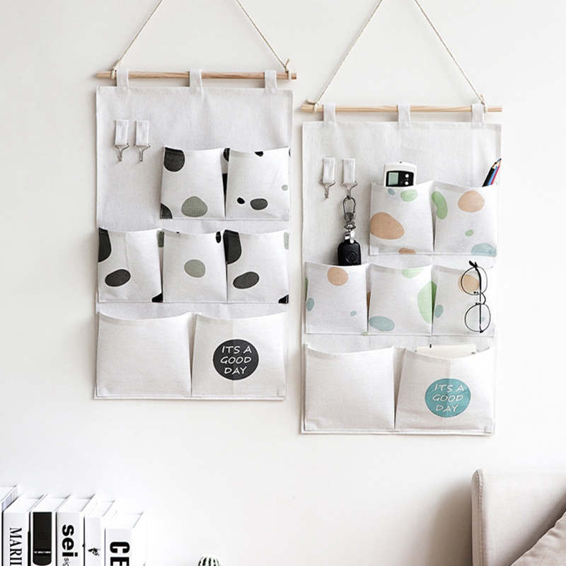 Carttoon настенная подвесная сумка для хранения в скандинавском стиле, органайзер для детской кроватки, декор для детской комнаты, детская игрушка, сумка для хранения подгузников, Домашний Органайзер