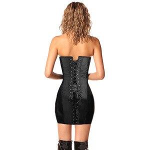 Image 5 - מיוחד ארוך מותניים מחוכים וbustiers גותי בגדים שחור פוליאסטר מחוך שמלת ממוסמר מותניים ומעצב מחוך בתוספת גודל S 6XL