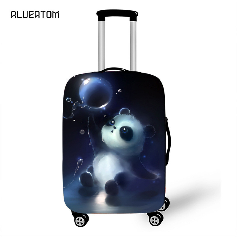 18-32 Inch Cartoon Panda Suitcase Cover Elastic Luggage Protective Covers For Girls Animal Travel Accessories Cat Case Cover
