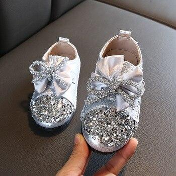 Детская обувь принцессы; Новинка 2019 года; обувь для девочек с блестками для свадебной вечеринки; Лидер продаж; обувь для маленьких девочек; ц...