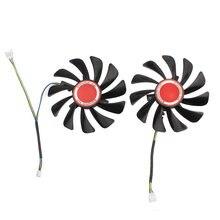 Пара 95 мм вентилятор охлаждения для ПК Замена xfx amd radeon