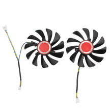 A Pair 95MM PC Cooler Fan Replace For XFX AMD Radeon RX580 RX584 RX588GPU Graphics Card Cooling Fan Diy