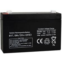 Toy Storage-Battery Accumulator Backup-Light 7AH 6V7AH Rechargeable Lead-Acid Sealed