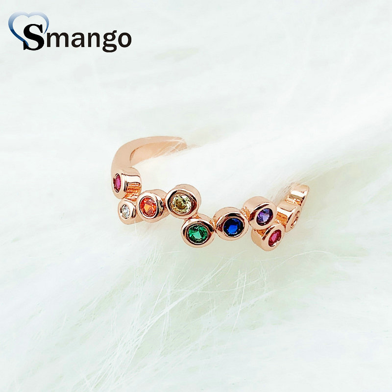 10PCS Adjustable Rings Women Fashion Jewelry The CZ Setting Rings 4 Colors Can Wholesale in Rings from Jewelry Accessories