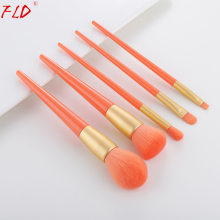FLD 5Pcs Professional Makeup Brush Set Wood Handle Kabuki Blush Brushes kits Foundation Face Powder Tools Kit