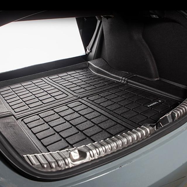 Upgrade Model 3 2021 Trunk Mat TPE Pad For Tesla Model 3 Mat Accessories Trunk Cargo Tray Floor Mat With Model3 LOGO Trunk Mats 2