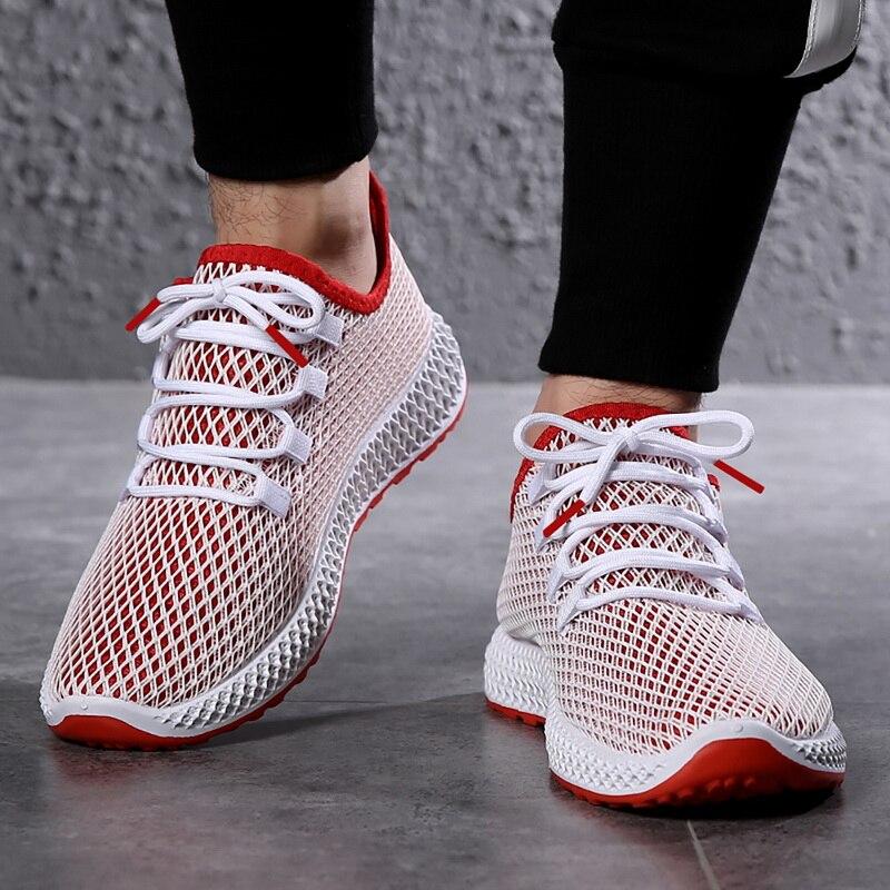 Oeak Sneakers Flat Sport-Shoes Mesh Comfortable Male Men Footwear Tzapatos-De-Hombre