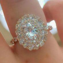 Anillos-De-Ring-Box Wedding-Jewelry Rose-Gold-Ring Moissanite Gemstone 3-Carats Luxury