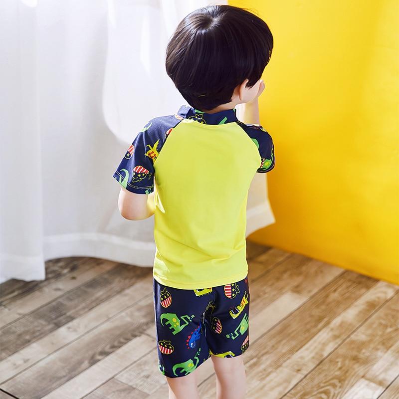 BOY'S Swimsuit Split Type Shark Dinosaur Quick-Dry Sun-resistant Europe And America Baby Swimming Trunks Swimwear CHILDREN'S Swi