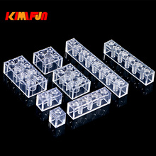 100g/Pack 2X4 2X3 DIY Transparent Brick Model Building Blocks Toy City Building Bricks Children Toys Gift Compatible Blocks fun children s building blocks toy compatible with legoes large aircraft carrier assembly model children s building blocks toys