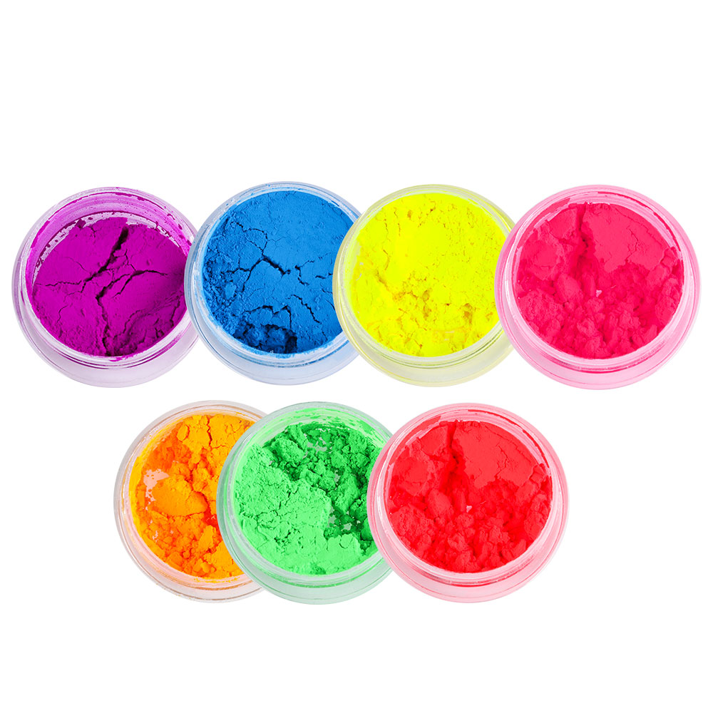 1PC Neon Loose Powder Eyeshadow Pigment Matte Mineral Spangle Nail Powder Shimmer Shiny Eye Shadow Woman Beauty Makeup Cosmetics