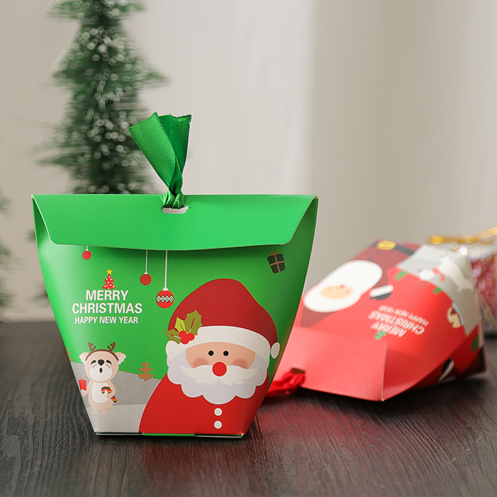 10 Pcs Christmas Gift Boxes Wedding Candy Box Party Favor Eve Box Party Bags Gift  Chocolate Box Giveaways Boxes Party Supplies