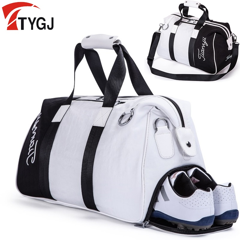 Brand Golf Clothing Bag Pu Ball Bags Large Capacity Clothes Golf Shoes Bag Travelling Handbag Knapsack Large Capacity
