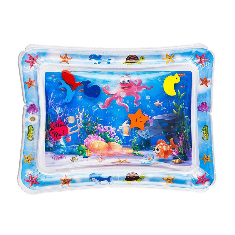 Baby Kids Water Play Mat Inflatable Infant Tummy Time Play Mat Toddler For Baby Fun Activity Play Center Baby Toddler Toys