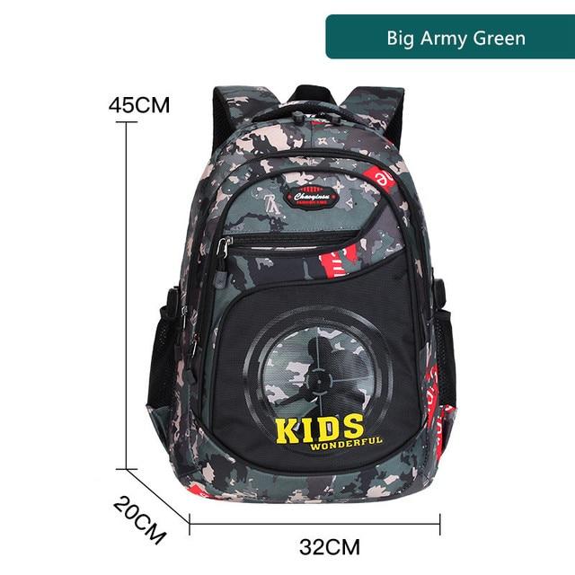 Fengdong primary school bags for boys waterproof bookbag camouflage backpack pen pencil case primary student boy school backpack 5