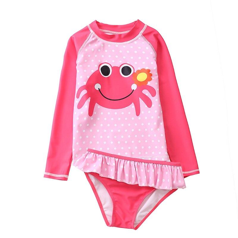 Детский купальный костюм для девочек с длинными рукавами маленьких