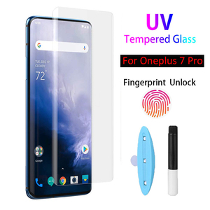 Full Glue Nano Liquid UV Tempered Glass For Oneplus 8 7 7T Pro UV Liquid Screen Protector For One Plus 8 7 7T Pro Curved Glass(China)