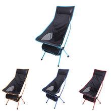 Portable Upgrade Outdoor Camping Chair Folding Lengthen Camping Ultralight Chair Seat for Fishing Festival Picnic BBQ Beach cheap Metal Aluminum FOLDING CHAIR Open Size 105x70x55cm Beach Chair S1018 Outdoor Furniture Modern
