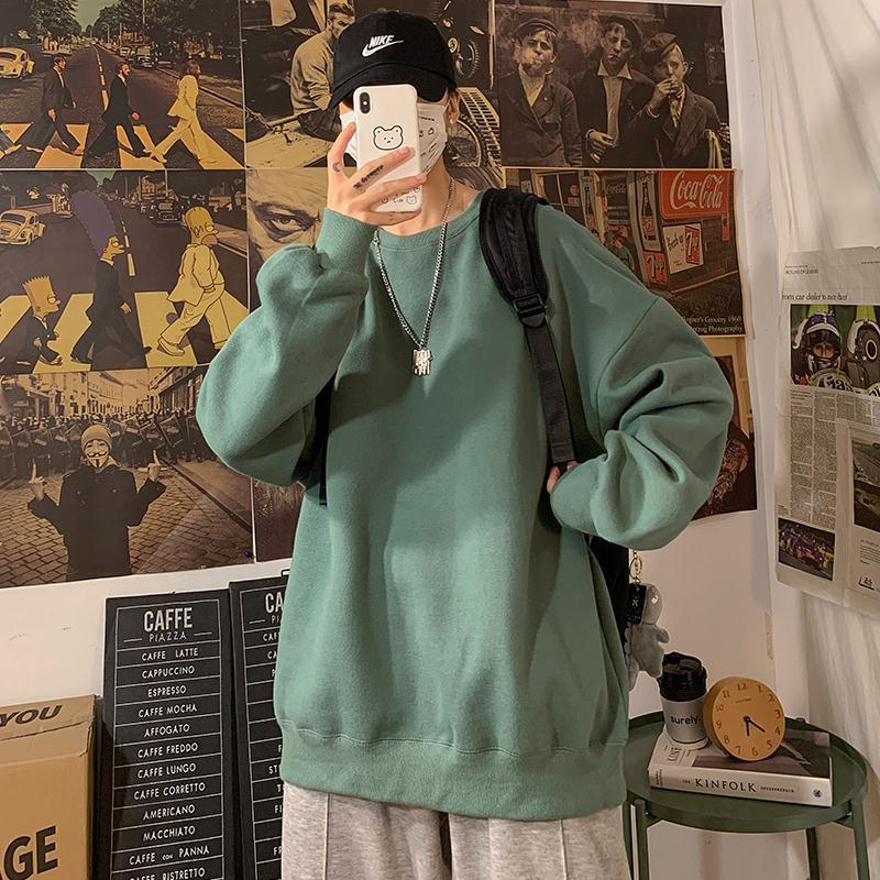 loose Korean style plus size sweatshirt winter clothes streetwear women 2020 new fashion plus velvet oversize harajuku hoodie 1