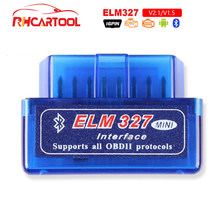Super MINI ELM327 V2.1 V1.5 outil de Diagnostic de voiture, Bluetooth ELM 327 Version 1.5, prise OBD2 / OBDII pour Android couple, Scanner de Code de voiture