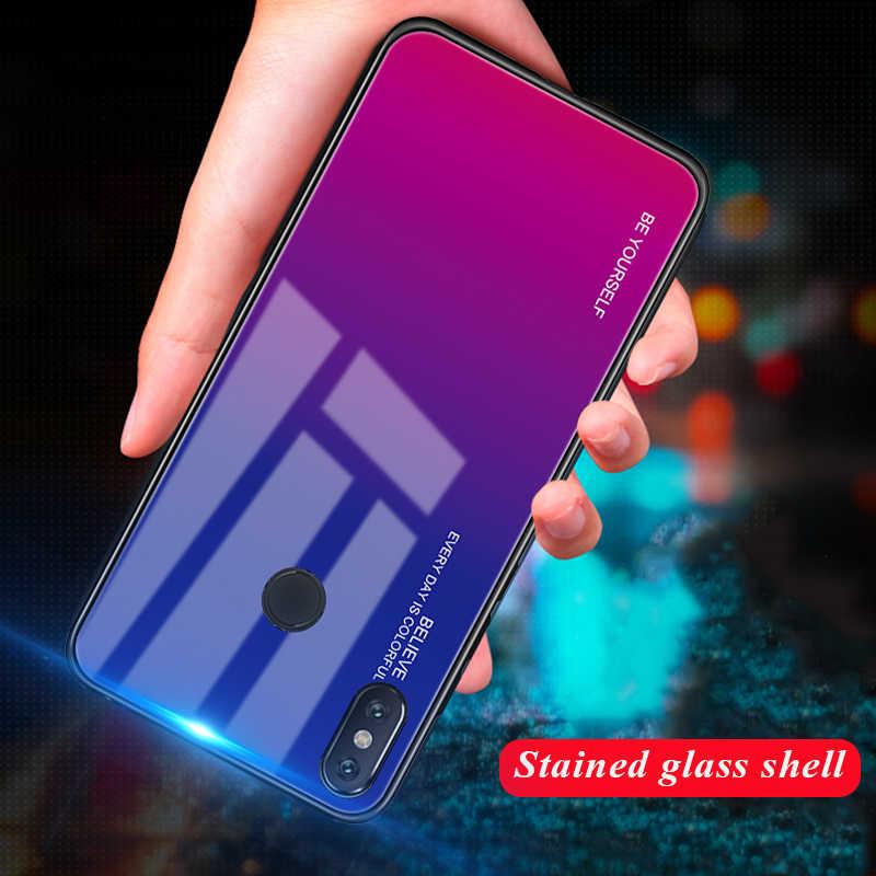 Градиентный чехол из закаленного стекла для Xiao mi K20 cc9 A3 Red mi Note 7 5 6 Pro POCO F1 mi 8 mi A2 Lite 6X 5X A1 mi 9 SE 9t Pro Чехол