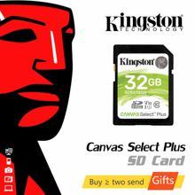 Kingston-tarjeta SD Canvas Select Plus, 32GB, 64GB, 128GB, tarjeta de memoria, tarjeta Micro SD 256GB para cámara de vídeo 4K