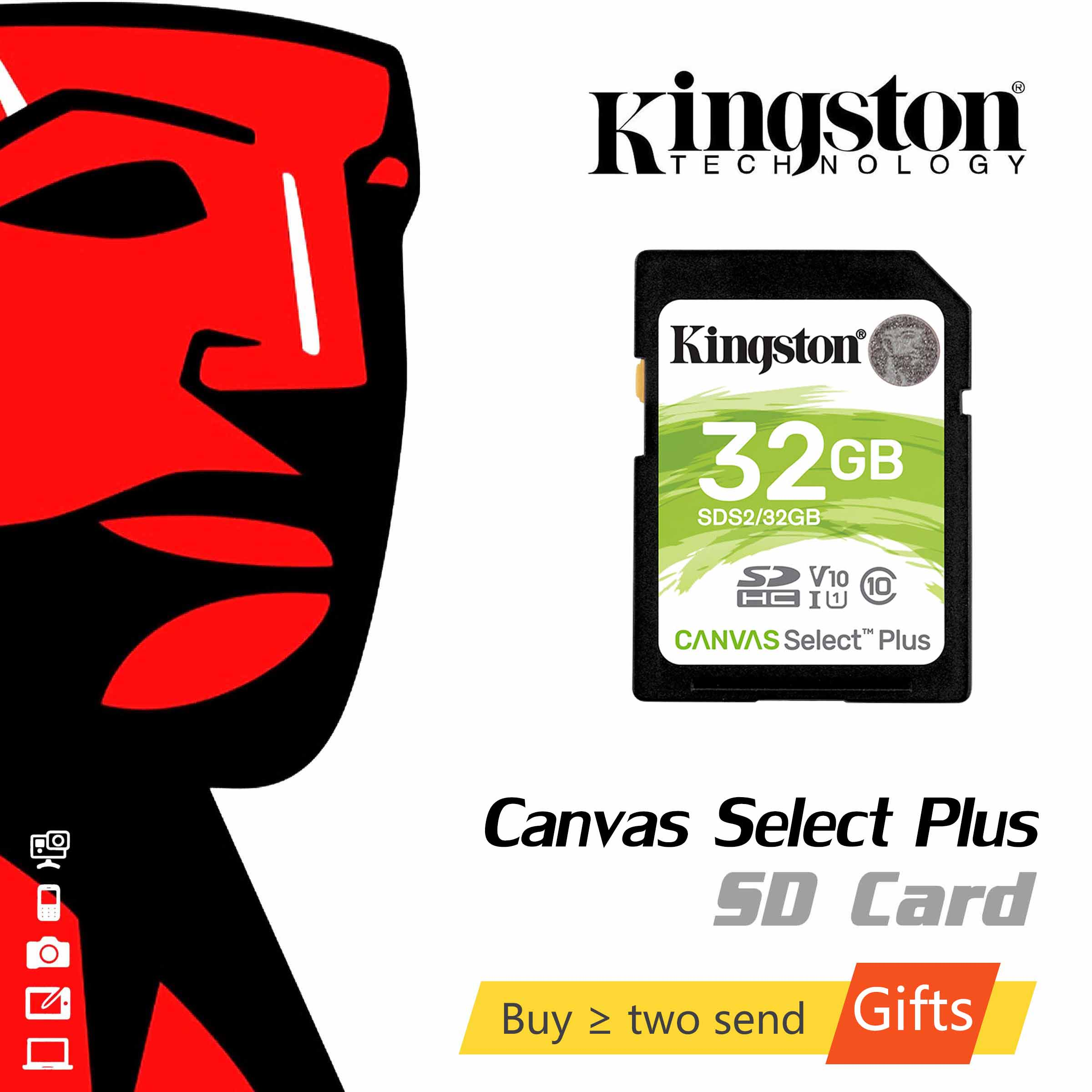 Kingston toile sélectionner Plus carte SD 32GB 64GB 128GB carte mémoire cartao de memória Micro carte SD 256GB pour caméra vidéo 4K