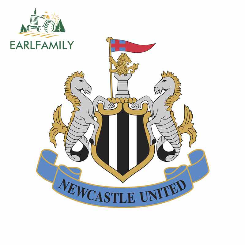 EARLFAMILY 13cm X 12.7cm For Newcastle United Vinyl Graphic Decal Repair Waterproof Creative Stickers Suitable For GTR EVO SX