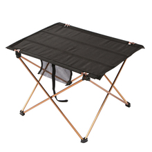 Collapsible Lightweight Aluminum Portable Roll Up Outdoor Folding Camping Table Patio Metal Foldable Picnic Table/chair