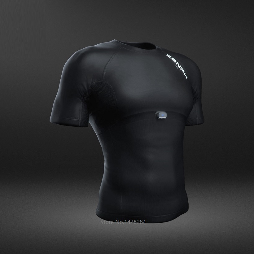 ZENPH Мужская умная спортивная одежда Высокая эластичность быстросохнущая летняя спортивная форма Беговая футболка мужская с коротким рукав... - 6