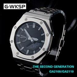 Ga2100 segunda geração ga2110 relógio conjunto pulseira de metal bezel 100% 316l aço inoxidável