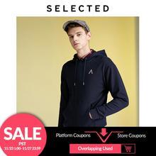 เลือกผู้ชายเย็บปักถักร้อยHooded PulloverหลวมFitแปรงSweatshirt Hoodies L
