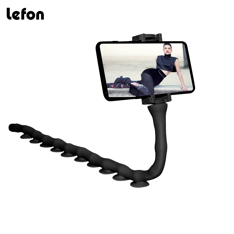 Lefon Cartoon Cute Lazy Mobile Phone Holder Stand 360 Rotating Bendable Flexible Suction Cup Mount Clamp Worm Bracket