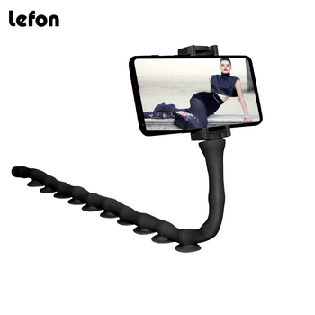 Lefon Cartoon Mobile Phone Holder Stand 360 Rotating Bendable Flexible Suction Cup Phone Mount Clamp Lazy Worm Bracket 6 inch