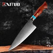 Xituo damasco facas de açougueiro afiada profissional faca do chef cutelo vg10 damasco facas cozinha aço utilitário cozinhar ferramentas