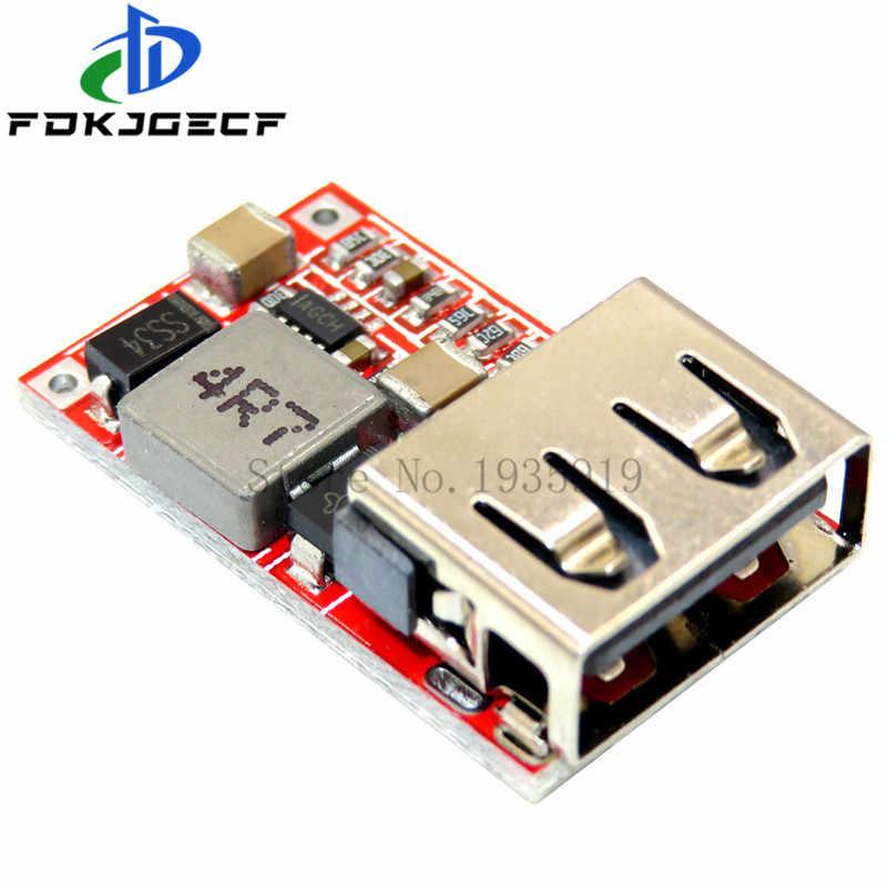 1 Buah Baik 6-24V 12V/24V untuk 5V 3A Mobil USB Charger Modul DC Buck Step Down Converter 12V 5V Power Supply Modul