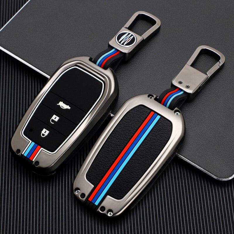 Чехол для автомобильного ключа из цинкового сплава для Toyota Chr Rav4 Auris Avensis Prius Aygo Camry Corolla Land Cruiser 200 Prado Crown Рие чехол для ключа