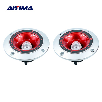AIYIMA 2Pcs 4 Inch Piezo Horn Speakers Tweeter Colorful Flashing Loudspeaker 4 Ohm 20W Piezoelectric Treble Speaker Stage image