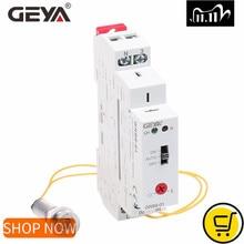 GEYA Interruptor de Crepúsculo de carril Din GRB8 01, temporizador fotoeléctrico, Sensor de luz, relé, AC110V 240V, Apagado automático