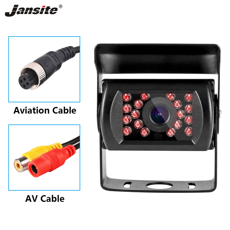 Jansite Truck Camera Car Camera Rear View Camera 18 Lamp 12-24V With Parking Line For Trailer/RV Car Monitor Night Vision