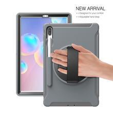"""מקרה עבור Samsung Galaxy Tab S6 10.5 """"T860 2019 Tablet מקרה עמיד הלם שריון כבד החובה קשיח מקרה עבור סמסונג tab T860 Stand מקרה"""