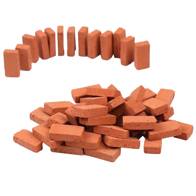 50 pçs 1/16 miniatura diy durável mesa de areia diorama paisagem crianças cenário construção brinquedo modelagem simulação tijolo portátil