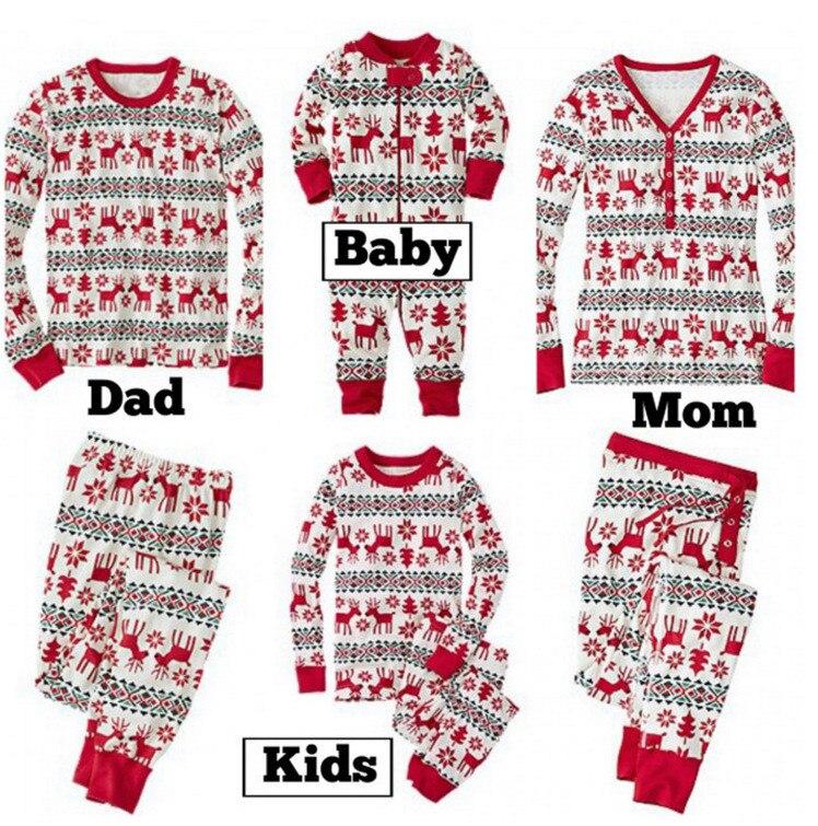 Семейный Рождественский пижамный комплект; одежда для мамы и ребенка; свитер с длинными рукавами и принтом+ штаны; комплект из 2 предметов; Семейные комплекты