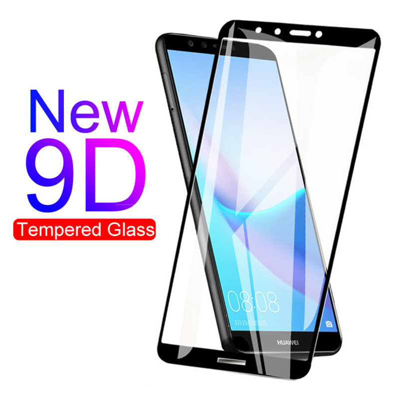 9D Tempered Glass For Huawei Y7 Y6 Y5 Prime 2018 Y9 Prime Y7 2019 Protective Glass For Huawei Y9 Y6 Y7 Pro 2019 Screen Protector