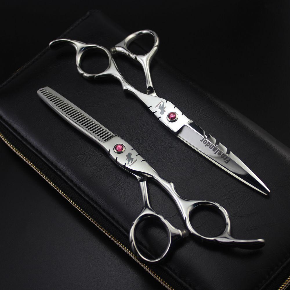 Freelander 5.5 inch 6 Inch Professional Hairdressing Scissors Set Hair Cutting Thinning Barber Shears Makas