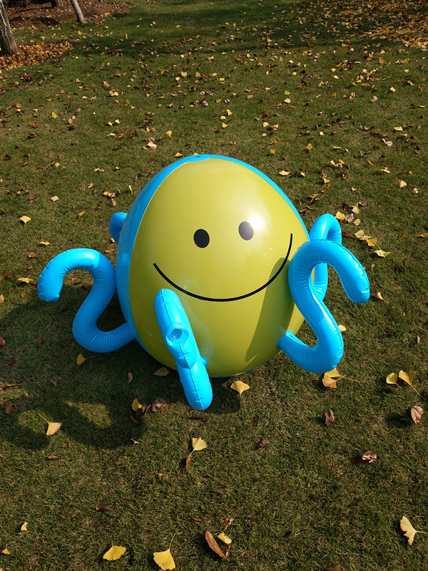 Inflatable Water Polo Summer Children Play Water Polo Spray Outdoor Parent-child Beach Lawn Play Octopus Sprinkler