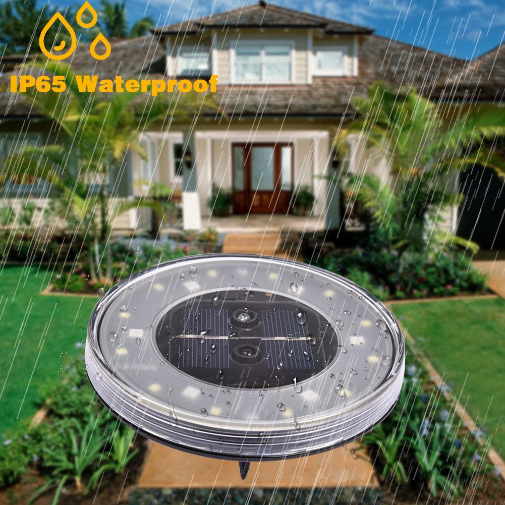 1/4Pcs Waterproof IP65 18 LED Solar Underground Lights Solar Buried Floor Light Outdoor Garden Path Ground Lights